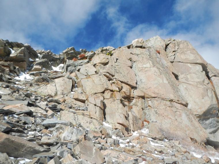 East ridge, Mt Bancroft